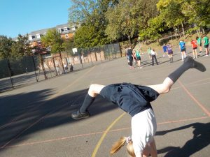 photographing gymnastics at after school club
