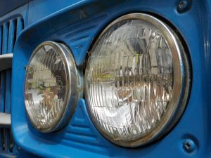 Close up of car lights taken on Brooklands Museum photography course
