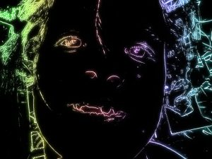 Neon affect on nikon coolpix w100 funny face