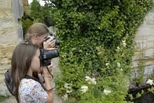 Photographing nature at Scotney Castle in kent