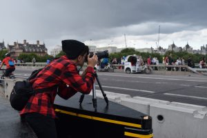 Teenager learning photography in London