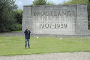 Teen photographing at brooklands museum