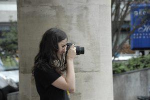 Teen street photographer in london