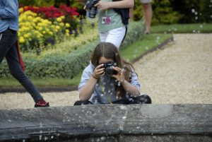 learning how to use a fast shutter speed on kids photography course in Buckinghamshire