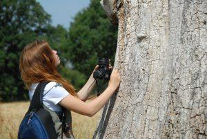 Duke of Edinburgh Photography Skills Course teenager taking nature photographs