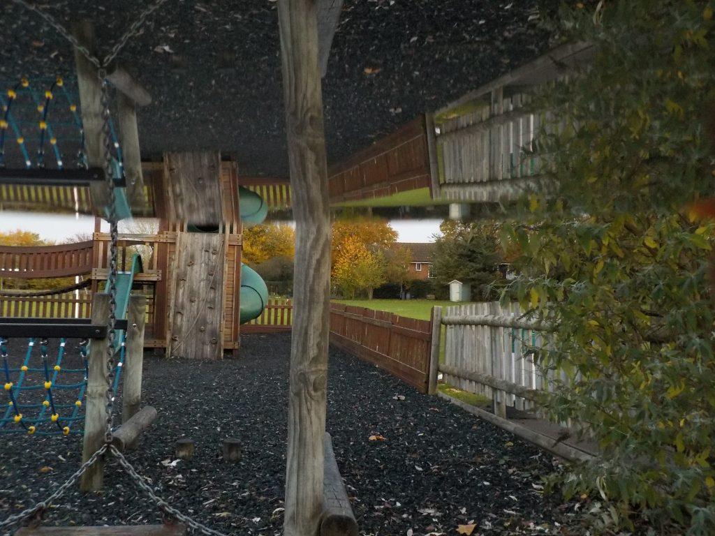 Playground mirror image using a mirror