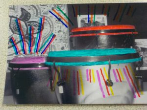 Creative mixed media collage after school club