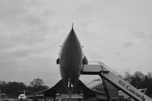 A photo of a Concorde plane