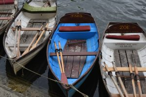 Colourful boats on the River Thames in Richmond